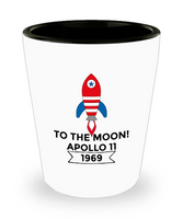 Apollo 11 Moon Landing shot glass 50th Anniversary Shot glass