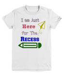 Back to School Recess T-Shirt for Boys Custom Funny Graphic Tee Kids Apparel Boys clothing