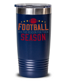 Football Tumbler 20 oz Tailgate Gift for Football Fans