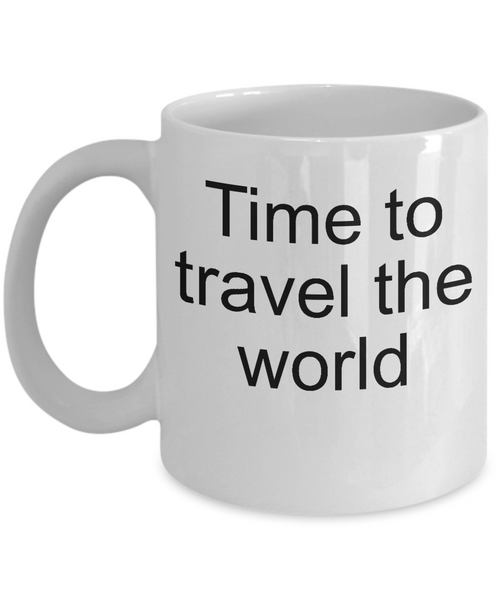 time to travel world coffee mugs