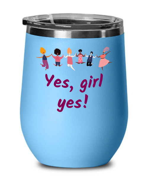 International women's day 2021 wine tumbler girl power