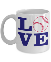 Love Baseball Coffee mug sports player fan lover novelty gift ceramic gift for her birthday gift