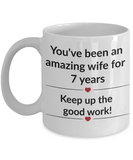 Gift for wife 7 year anniversary funny custom mug