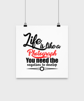Room Home Decor Poster-Life Is Like A Photograph-Inspirational Wall Hangings