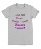 Back to School T-Shirt for Girls Recess Shirt Funny Graphic Tee