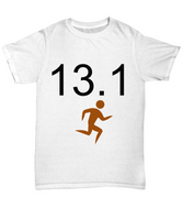 Marathon Runner Novelty T-shirt Custom Printed T-Shirt Unisex