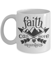 Coffee mug faith can move mountains tea cup gift inspirational mugs with sayings women men