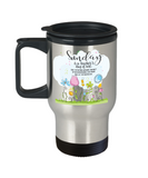 Funny teachers travel mug-Sunday is a teacher's day of rest-funny tea cup gift tutors educators