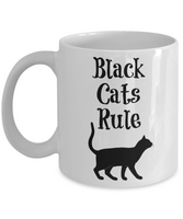 Funny Black Cat Coffee Mug