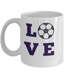 Love Soccer coffee mug custom mug Tea cup Soccer lover Ceramic mug Unique mug