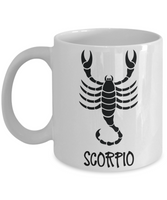 zodiac Scorpio coffee mugs