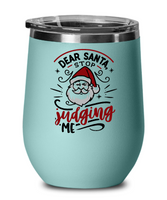 Funny Santa Stemless Wine Tumbler Christmas Gift Holiday Gift