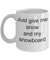snowboarders coffee mugs