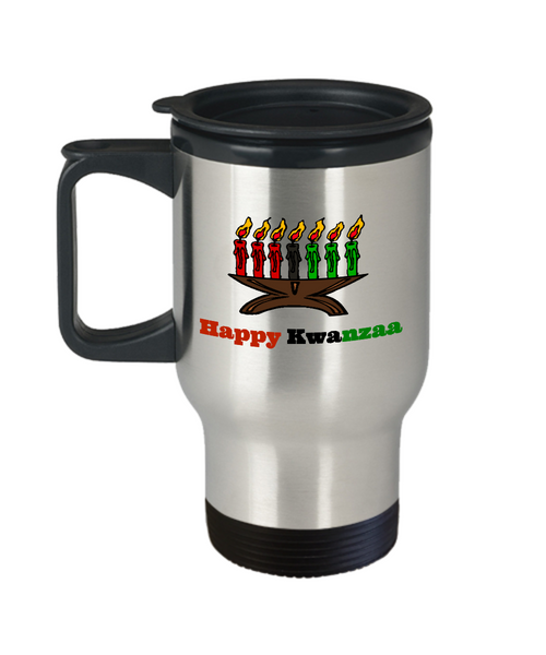 happy kwanzaa travel mug