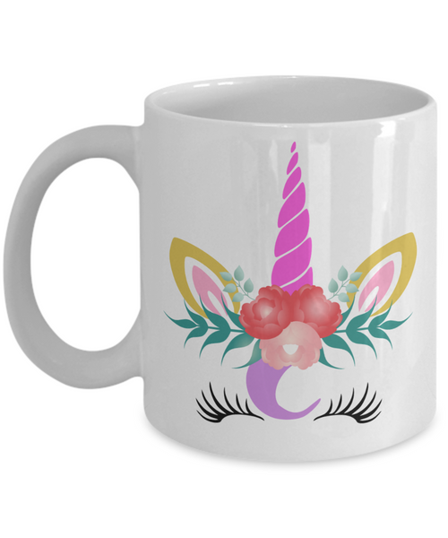 unicorn face coffee tea mug cup for women lovers cute unique