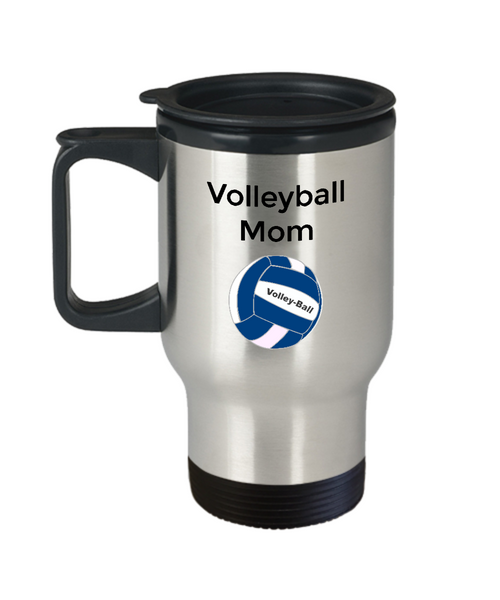 Novelty Travel Coffee Mugs/Volleyball Mom/Travel Coffee Cup/For Sports Mom Fans