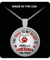 Silver Pomeranian Dog Necklace Pendant For Pet Owners Lovers Jewelry Statement Custom
