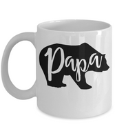 Funny Coffee Mug papa bear Novelty tea cup gift dads father's day grandpa ceramic 11 oz
