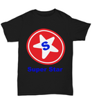 Super Star Novelty T-Shirt Fun Apparel Black Cotton Shirt funny unisex men women teens