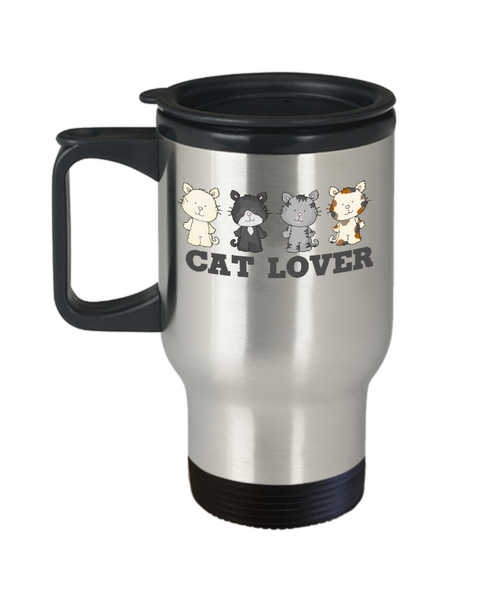 Cat Lover Travel Coffee Mug Cat Mom Dad Gift Custom Mug