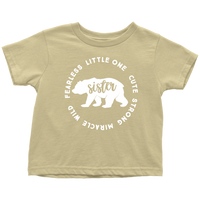 Sister Bear T-Shrit Kids  Toddler Bear Family Shirts Kids t-shirts Graphic Tees Children shirts