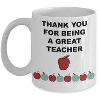 thank you for being a great teacher mugs