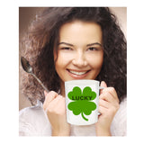 Lucky Four Leaf Clover Irish Novelty Coffee Mug Custom Ceramic Coffee Cup st. Patrick's