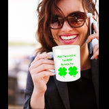 May The Luck Of The Irish Be With You Novelty Coffee Mug Irish Tea Cup Gift Mug With Sayings St. Patrick's Men Women Friends