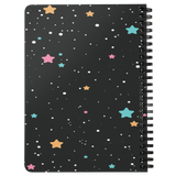 Space Stars Journal Notebook  Spiral Lined Diary Daily Daybook  Gift for Her Him Custom