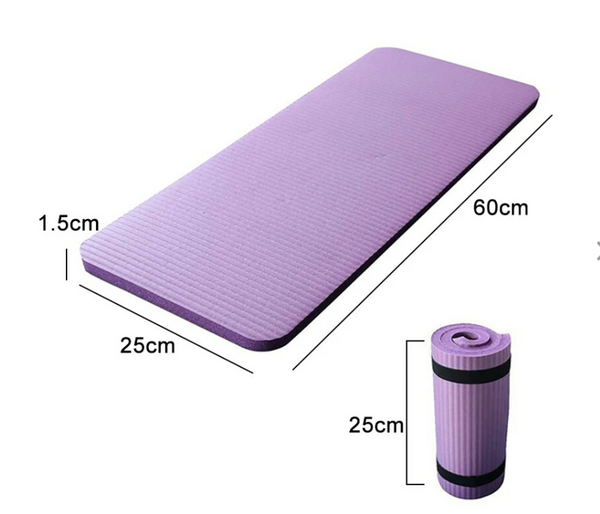 25cm Thick Yoga Mats Anti-slip Exercise Fitness Pilate Pads Exerciser - Purple