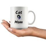 Cat Mom Coffee Mug Birthday gift Cat owner gift Cat lover Mug Ceramic Custom Cat Mom gift