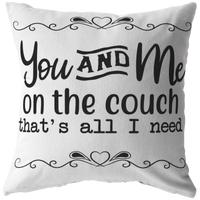 Throw pillows Valentines Gift for Him Her Home decor  You and Me on the Couch
