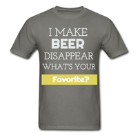 Funny Beer Lover TShirt Funny Shirt with Sayings Beer Lover Gift - charcoal
