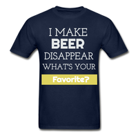 Funny Beer Lover TShirt Funny Shirt with Sayings Beer Lover Gift - navy