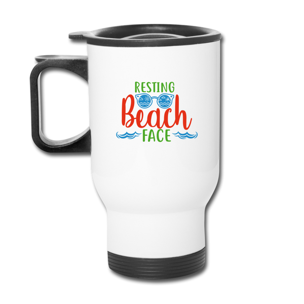 Travel Mug Funny Summer Travel mug Beach Travel Mug - white