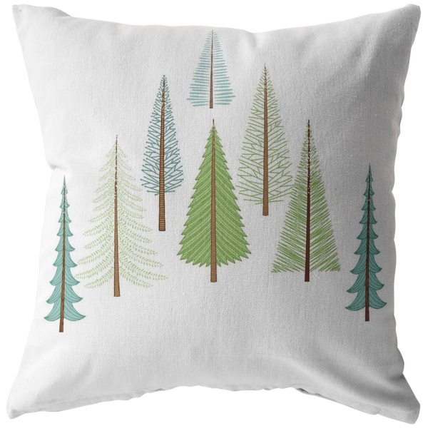Throw Pillow Throw Pillow Cover  Minimalist Evergreen Tree Pillow  Decorative  Pillow Farmhouse Pillow Custom