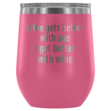 Wine tumblers-stemless-insulated-chic-barware-drinkware-assorted colors-home decor-custom