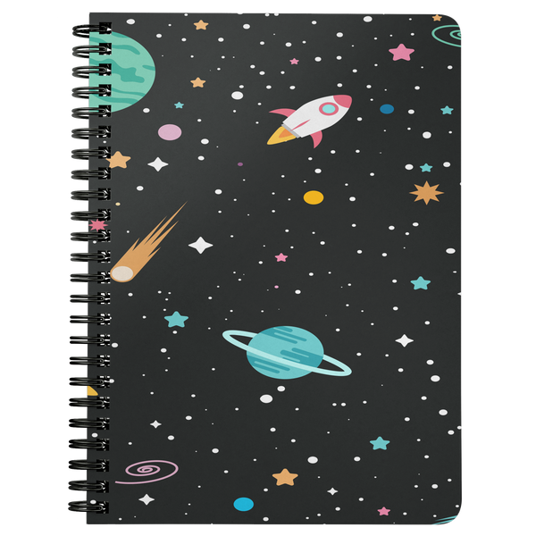 Spiral Notebook Journal  Outer Space Theme  Diary Gift for Her Him Daily Journal Custom