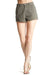 Zed Khaki Denim Shorts