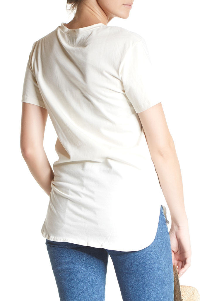 Scoop Hem Tee from Coast, an ivory t-shirt in cotton