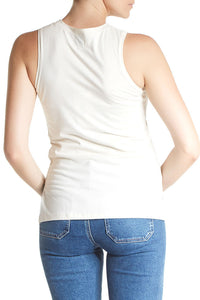 Sleeveless Tee from Coast in ivory