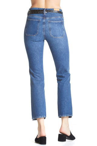 Medium blue denim jeans with straight leg from m.i.h jeans