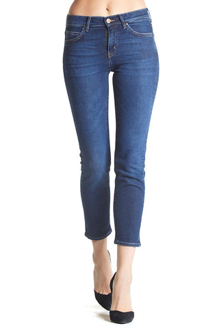 Tomboy jeans from M.i.h Jeans, a dark wash with slim fit