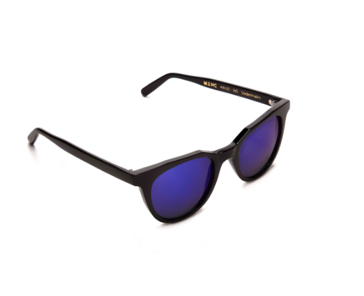 Sodermalm Monc London Blue mirror Black Sunglasses