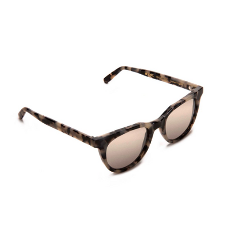 Sodermalm | White Tortoise Mirror Sunglasses