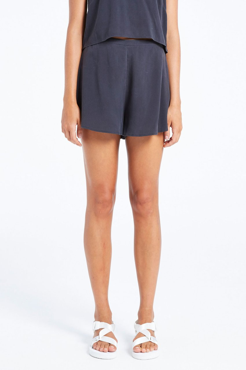 The Fox Shorts from Zulu & Zephyr in a washed silk features a high waist and has a dressy feel