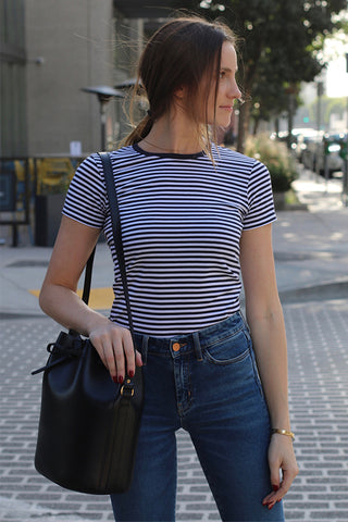 Striped T-shirt from Sunspel in 100% Cotton