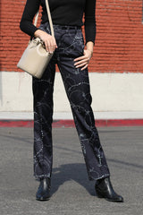 Gibson Pant from Acler features a high waisted silhouette, pleated pant and in-seam side pockets.