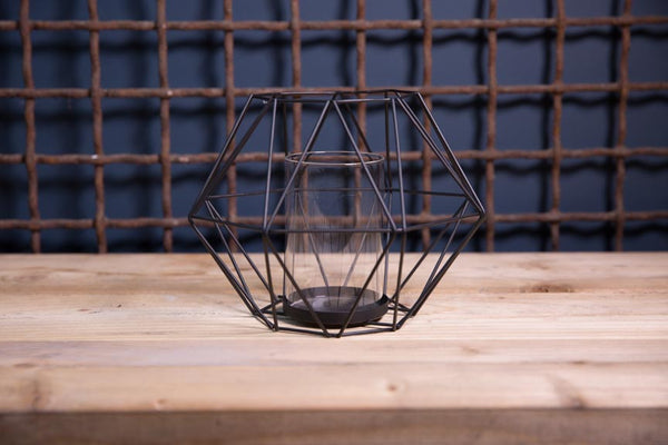 Geometric candle holder.