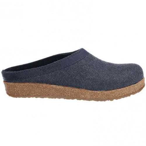 Haflinger Grizzly Wool Clog Blue (Women's)
